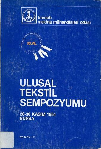 ULUSAL TEKSTİL SEMPOZYUMU 1984
