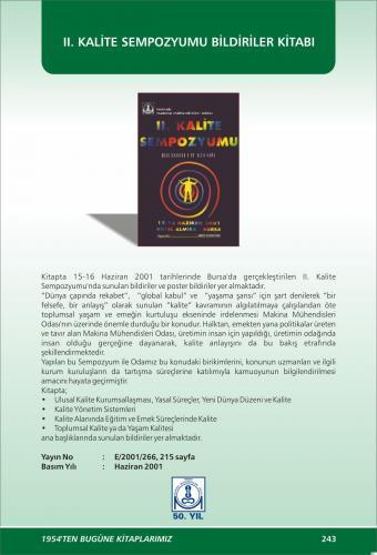 II. KALİTE SEMPOZYUMU BİLDİRİLER KİTABI